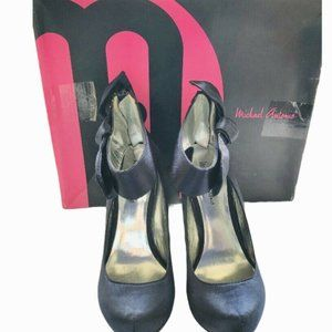 Michael Antonio Women's Ladina Satin Navy Pump-5.5